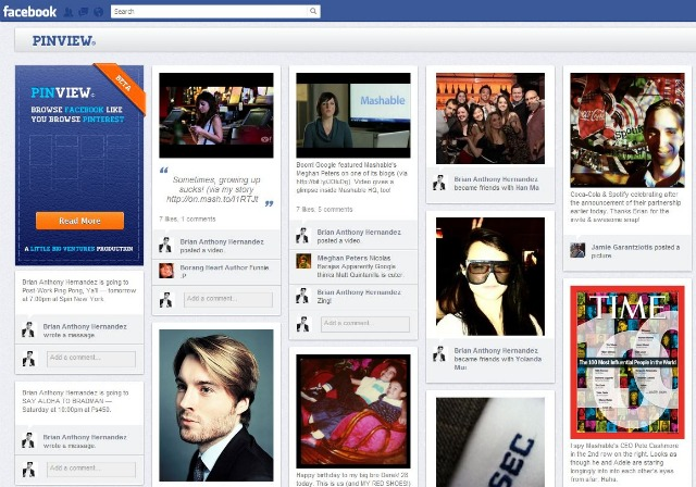 PinView for Facebook