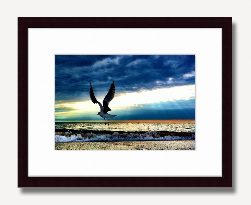 This is how we prefer our limited edition prints to be matted and framed.