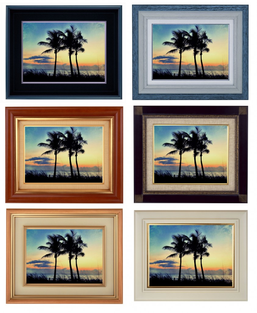 Just a few examples of how you can frame your prints to match your decor.