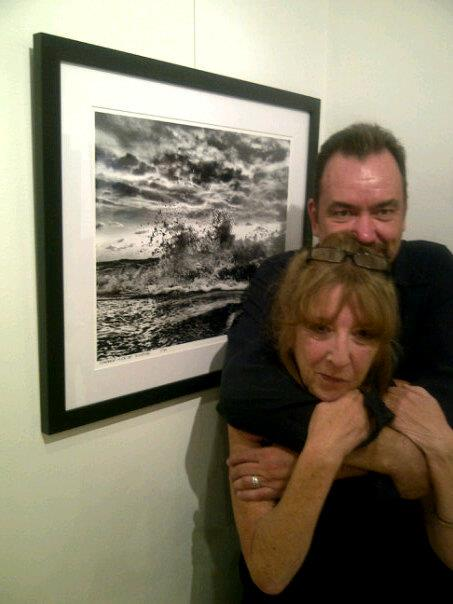 Jackie Jackson and Andy Royston at the Art4Vision Gallery